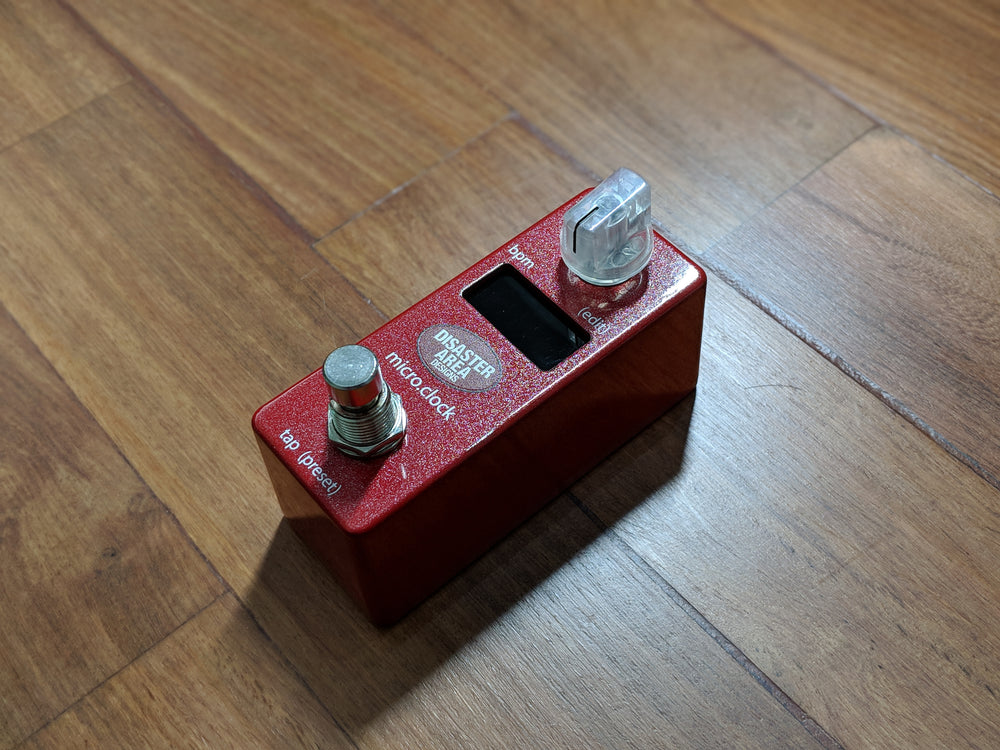 Disaster Area Designs micro.clock Tap Tempo Controller Empyrean Red
