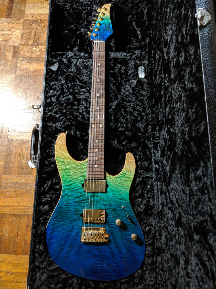 Suhr Custom Modern in Aqua Gradient
