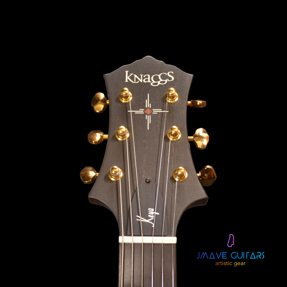 Knaggs Keya T2 Blue Marlin with 5A Flame Maple Top
