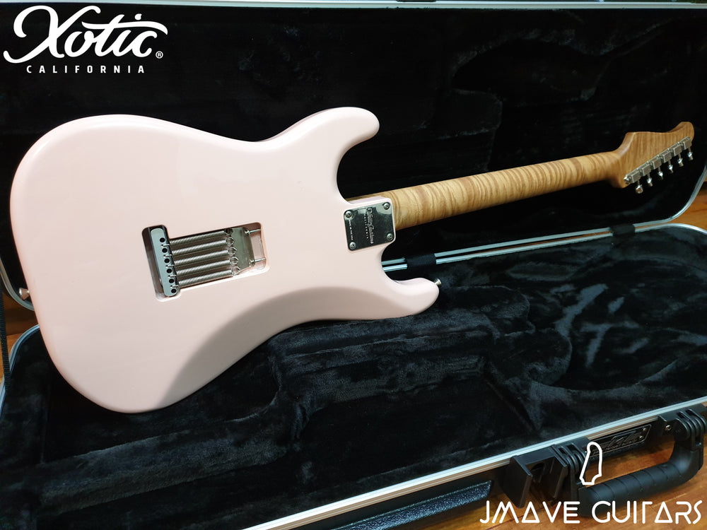 Xotic Guitars XSC-2 Shell Pink 5A Roasted Flame Maple Neck