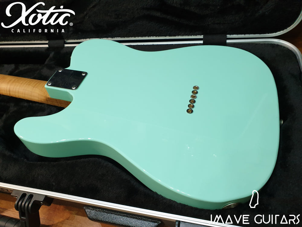 Xotic Guitars XTC-1 Surf Green 5A Roasted Flame Maple Neck