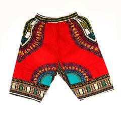 New Fashion Design African Traditional Print Cotton Dashiki Short Mens Beach Short Free Shipping