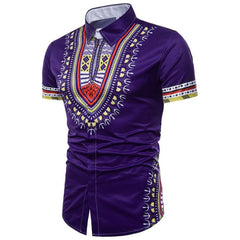 Chemise Wakanda A Manches Courtes Purple / M