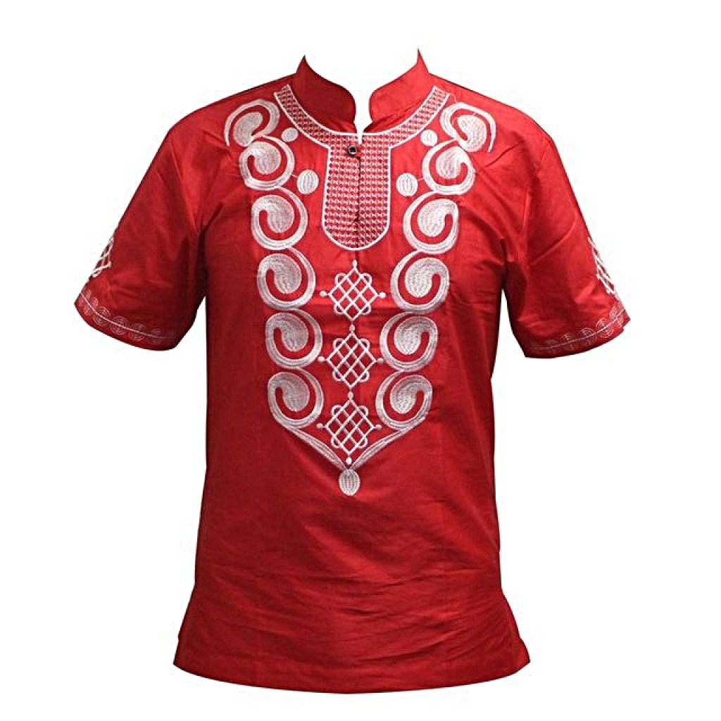 Tee-Shirt Africain Omelo 128Red / M