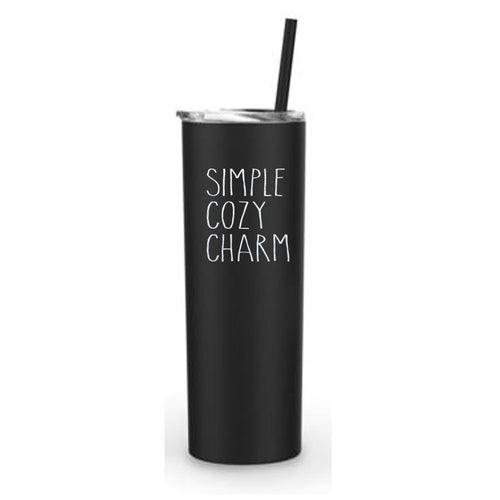 Simple Cozy Charm Skinny Tumbler