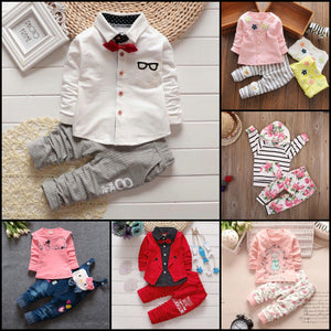 Kids outfits, clothing sets for baby girl or boy.
