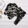 Camouflage Outfit with Long Sleeve and Long Pants - 2pc Set