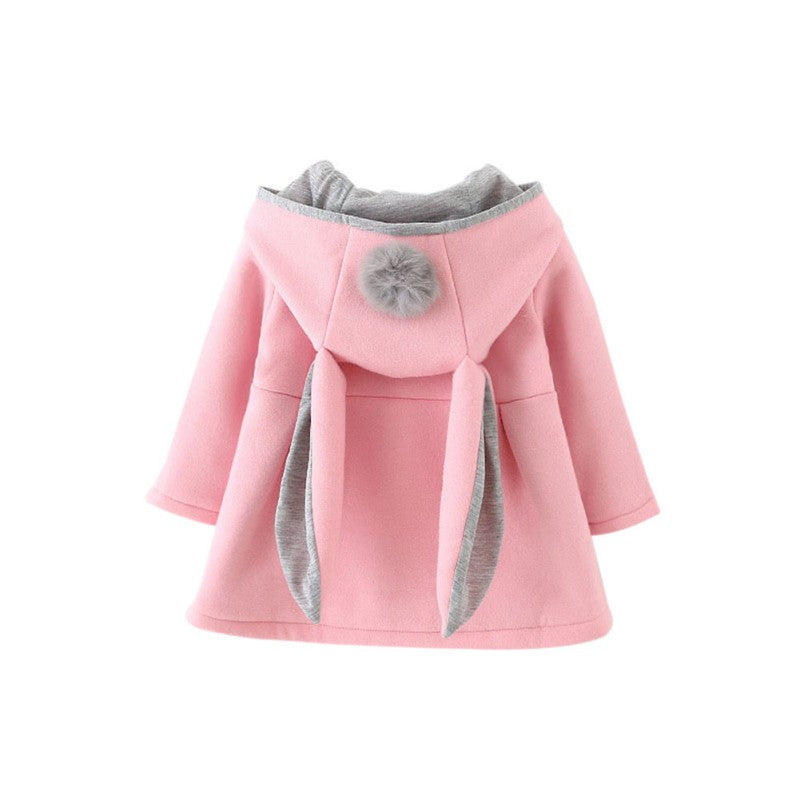 Long Sleeve Coat with Rabbit Ear Hood