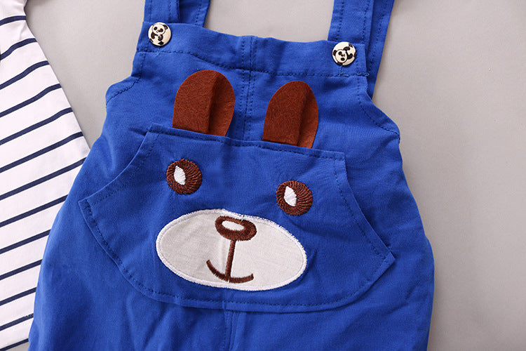 Bear Overalls Suit - 2pc Set
