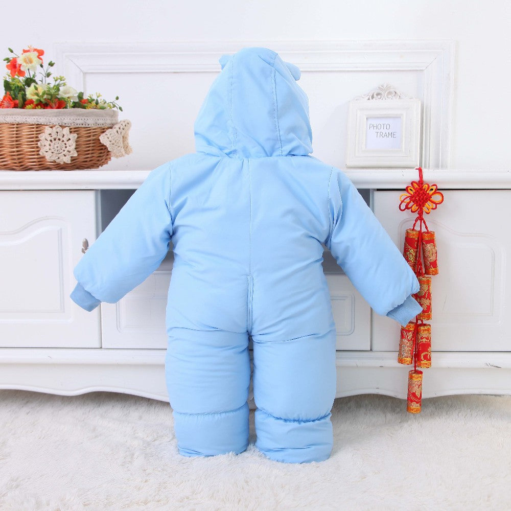 Cotton Padded Suit with Hood