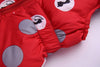 Polka Dot Down Snowsuit with Hooded Jacket and Waterproof Trousers - 2pc Set