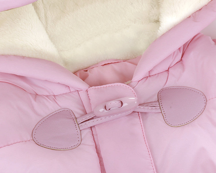 Warm Fleece Winter Suit with Hood