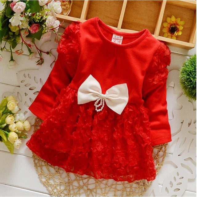 Long Sleeve Tulle Petals Dress