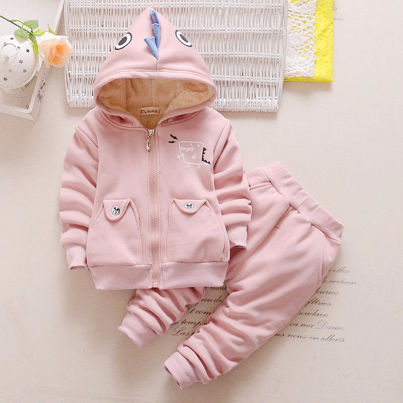 Dinosaur Hooded Tracksuit Jacket and Pants - 2pc Set