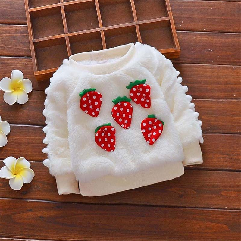 Fleecy Strawberry Winter Sweater