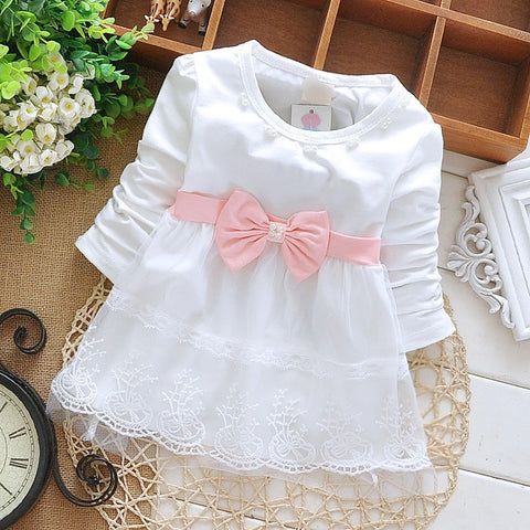 Summer Lace Dress Bodysuit with feature Ribbon Bow