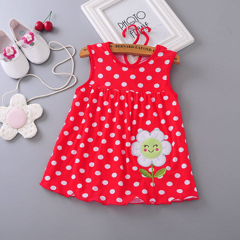 Sleeveless Flower Bow and Ribbon Dress