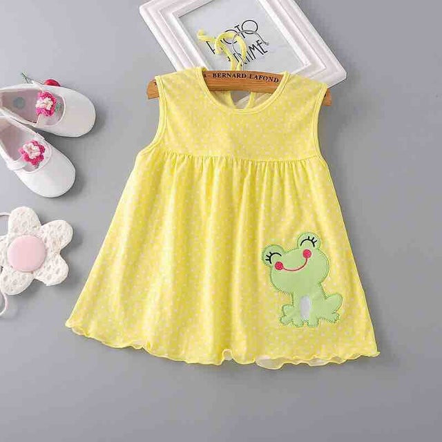 Various Cartoon Decorated Sleeveless Summer Dresses