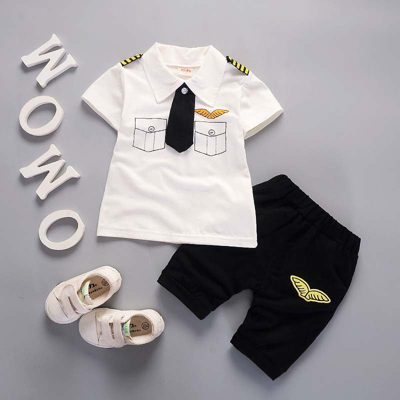 Pilot Outfit T-Shirt and Matching Shorts - 2pc Set
