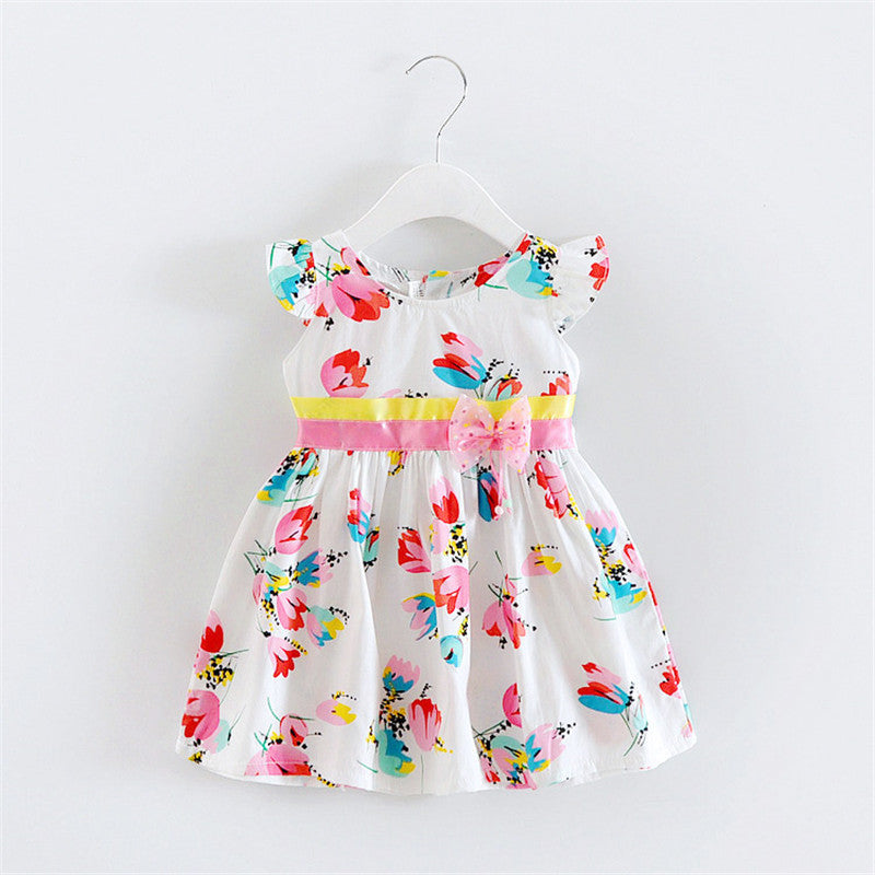 Light Floral Sleeveless Dress