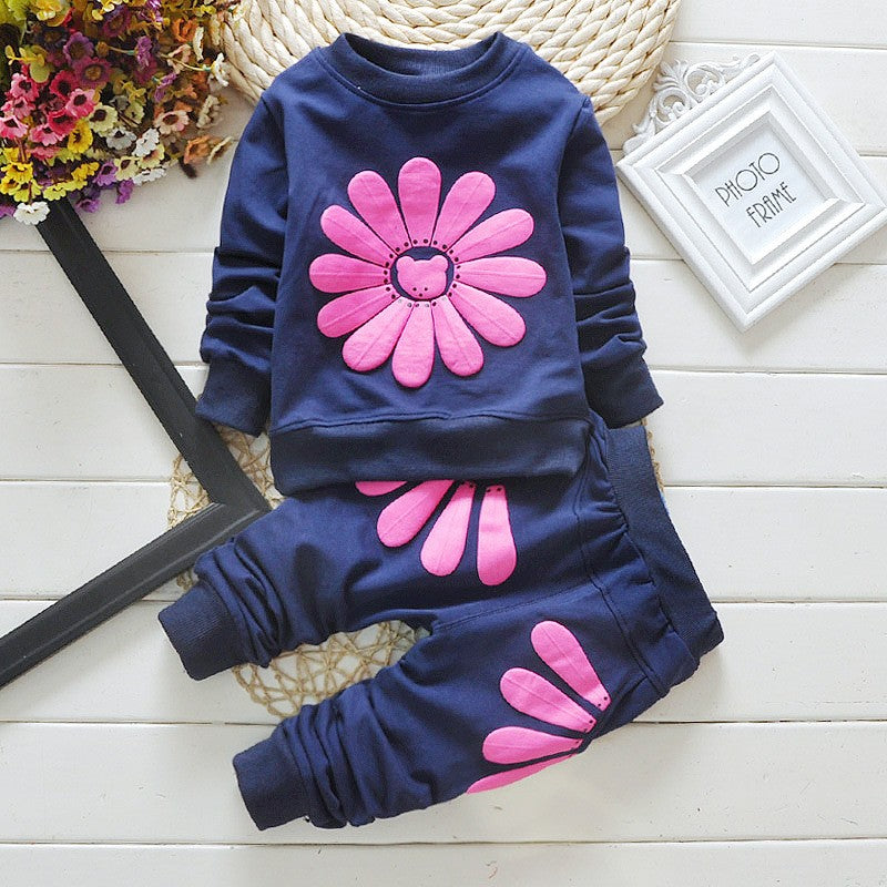Flower and Petal Sweater with Matching Pants - 2pc Set