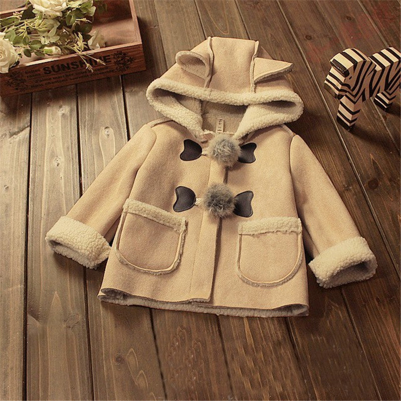Stylish Hooded Fleece Coat with Ears