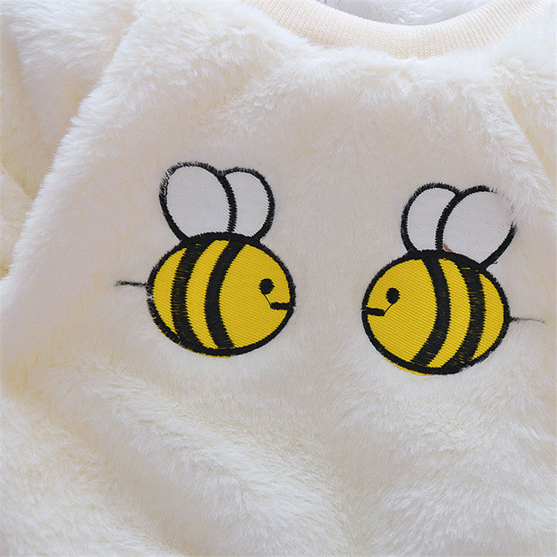 Fleecy Bees Winter Sweater