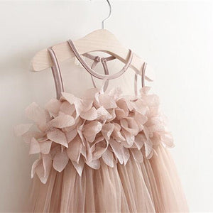 Sleeveless Petal Tulle Dress