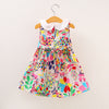 Sleeveless Colourful Floral and Fauna Dress