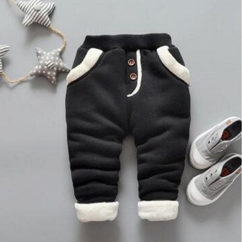 Thick Winter Long Pants with Pockets
