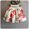 Flare Sleeves Top and Floral Skirt - 2pc Set