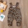 Sequins Heart Long Sleeve Bodysuit and Leopard Print Pants - 2pc Set