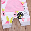 Floral Hooded Romper with Pouch Pocket