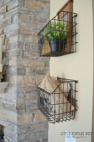 farmhouse baskets wall decor