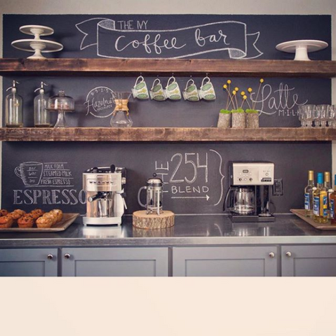 farmhouse coffee shop decor