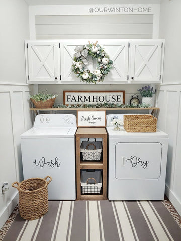 farmhouse wall decor laundry room