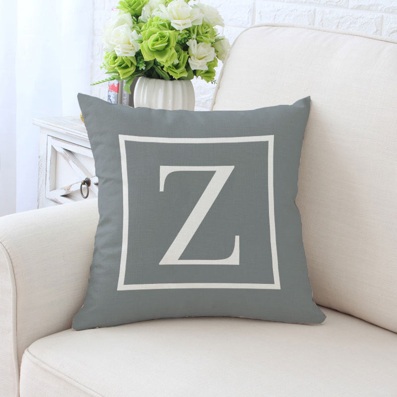 Alphabet Farmhouse Pillows