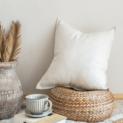 Celeste Linen & Cotton Farmhouse Pillow | Farmhouse Decor