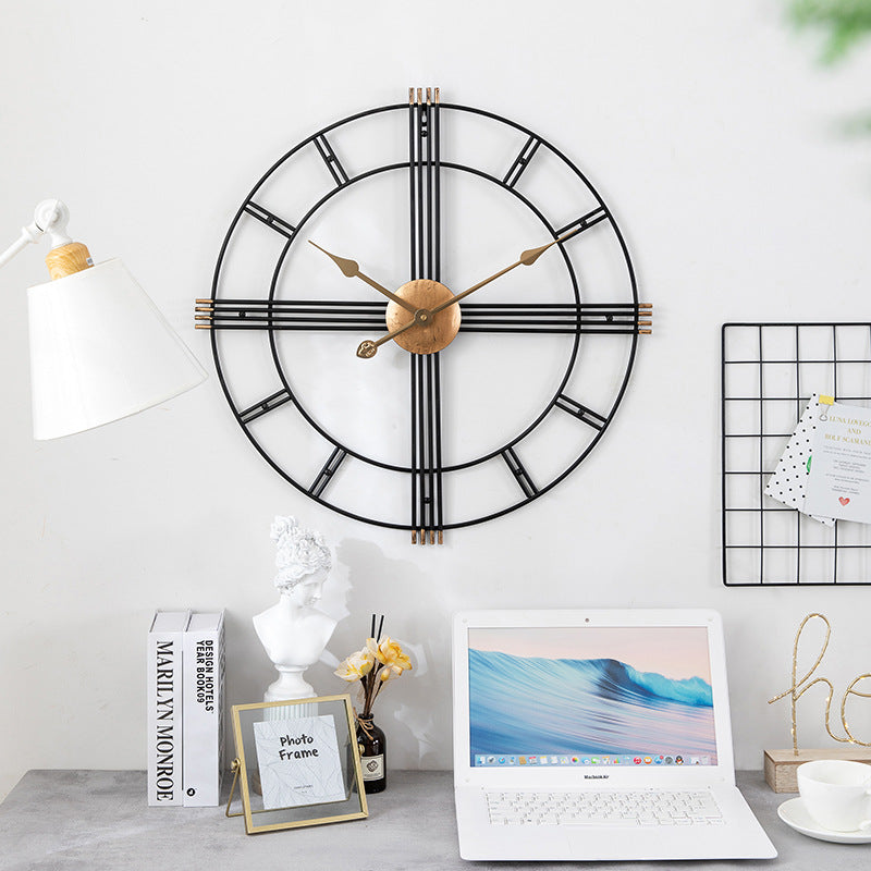 Cleo Metallic Farmhouse Wall Clock | Farmhouse Decor