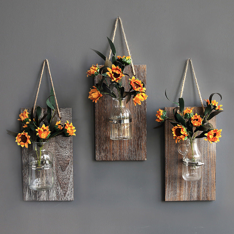 Esme Farmhouse Wall Display Vase Hanger | Farmhouse Decor