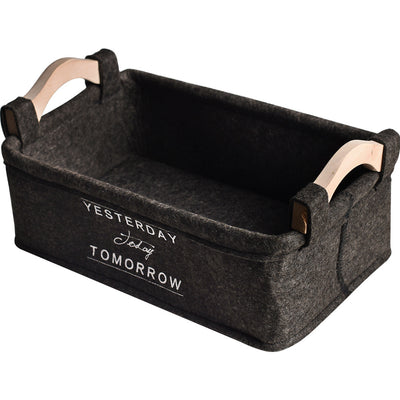 Felt Farmhouse Storage Basket | Farmhouse Decor | pepperhive.com
