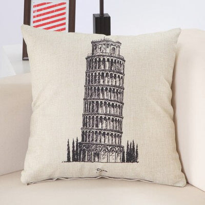 Landmarks Cotton Farmhouse Throw Pillow | Farmhouse Decor