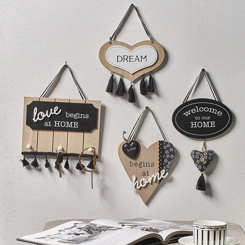 Welcome Home Wooden Farmhouse Home Ornaments