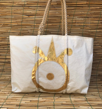 Sea Bags Dorado Beach Logo Large Tote