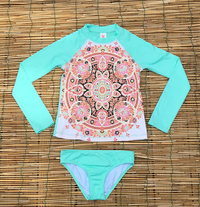 Billabong Girls Groovy Luv Rashguard Set