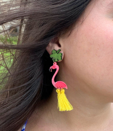 M3 by Monica Flamingo Earrings