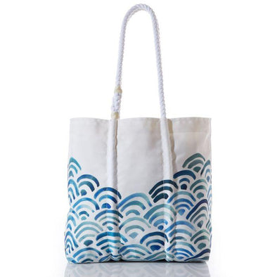 Sea Bags Watercolor Waves Tote