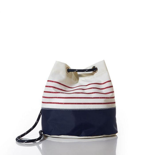 Sea Bags Red Mariner Stripe Convertible Bucket Bag
