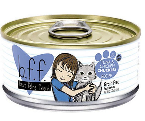 Weruva BFF Tuna and Chicken Chuckles in Aspic Canned Cat Food