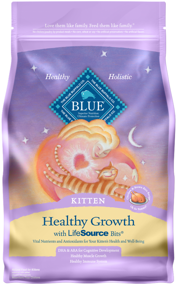 Blue Buffalo Healthy Growth Kitten Chicken and Brown Rice Recipe Dry Cat Food